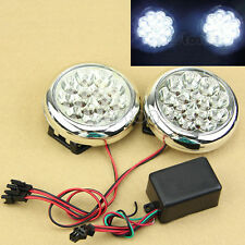 2x 15 LED 12V Round Daytime Running Driving Lights DRL Front Fog Tail Work Lamp