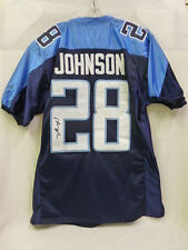 Chris Johnson Signed Tennessee Titans XL Football Jersey JSA NFL