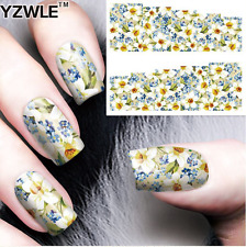Nail Art Water Decals Stickers Transfers Pretty Flowers (A-56)