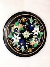 12'' Marble Coffee Table Top Multi Floral Leaves Inlay Dining Room Decor M026