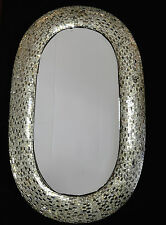 OVAL WALL MIRROR  LARGE MOSAIC HEIGHT 1 METRE