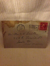 COLLECTABLE -OLD POSTAGE STAMP 2 CENT -ENVELOPE POST MARKED DEC 19, 1927