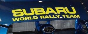 Subaru World Rally Team Decal Sticker Hood WRX Impreza STi EJ20 EJ25 JDM WRC