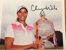 Cheyenne Woods Autographed 8x10 Photo Coa LPGA Star Golf