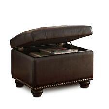 Storage Ottoman Hazel Pu Faux Living Room Den Furniture Foot Stool Rest Bench