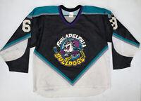 Vintage Philadelphia Bulldogs Hockey Jersey Size L/XL CCM RHI
