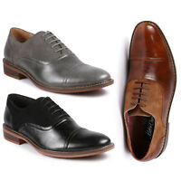 Men's Cap Toe Lace Up Oxford Classic Dress Shoes