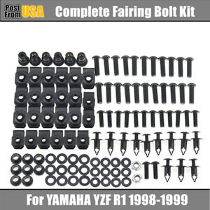 LoveMoto Full Motorcycle Fairing Bolt Screw Kit For Yamaha YZF 1000 R1 07 08 YZF1000 R1 2007 2008 New Body Screws Aluminum Fasteners Hardware Clips Silver