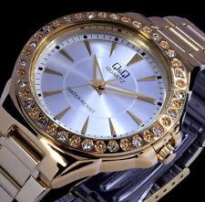 Q&Q by Citizen Damenuhr Armband Uhr Gold SIlber Farben Strass QL-4