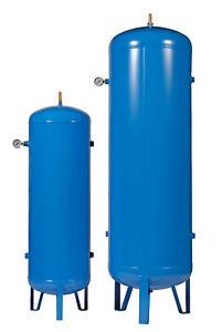 Vertical Air Receivers / Tanks / Vessels 11 & 15 bar 15 - 500 litres Blue Paint