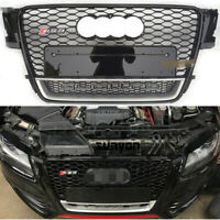 Black Front Mesh Grille Grill for Audi A5 & S5 2007-11 To RS5 Quattro Style