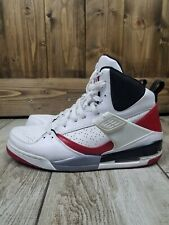 Air Jordan Flight 45 High White Varsity Red Black Cement Grey 384519 164 Size 12