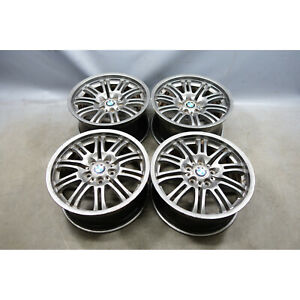 "2001-2006 BMW E46 M3 Staggered 18"" ///M Double Spoke Style 67 Wheel Set of 4 OEM"