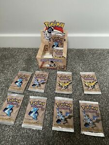 *EMPTY* Pokemon Fossil Set Booster Box EMPTY with Empty Booster Packs X10 WOTC