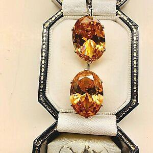 Faceted Morganite Drop/Dangle Gemstone Hook Earrings