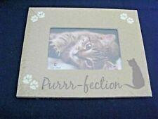 "Cat Chat Cat Lover Picture Frame 7.5""X9.5"" Overall 4x6 pic. - ""Purr-fection"" New"