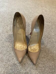 100% Genuine Christian Louboutin Pigalle 120 Nude. Size 39 / UK 6