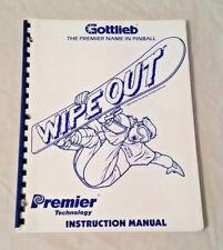 Gottlieb Premier Wipe Out Pinball Machine Original Manual & Schematics Nos!