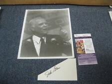 John Glenn 3x5 Autograph triangle-shaped cut Photo JSA Cert Astronaut Senator