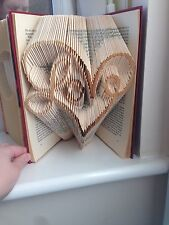 Folded Book Art. Book Fold. Heart With Love Inside. Wedding. Mothers day. Gift