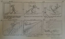 Pink Panther 6 Panel Storyboard Signed by Friz Freleng