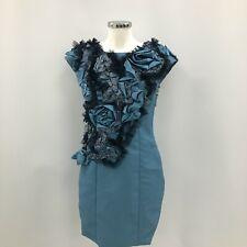 Love Frocks Natalie Beard Tunic Dress Size XS S Short Blue Floral Texture 290639