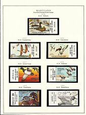 STATE OF MARYLAND HUNTING PERMIT STAMPS 1974-2004 MOUNTED ON 6 PAGES BT6308