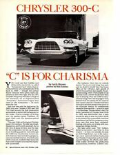 1957 CHRYSLER 300-C ~  GREAT 8-PAGE ARTICLE / AD