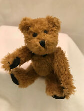 """Boyds Bear Collection Ltd Brown Stuffed Plush Jointed Curly Haired 6"""" Rare"""