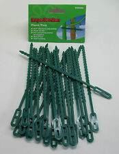 Garden Plant Ties, Plastic Reuseable, Pack 25, Trees Shrubs Bushes, Supa SGS280