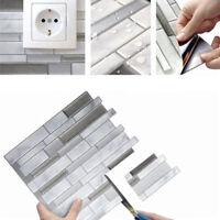 1Pcs 3D Mosaic Adhesive Wall Tile Sticker Vinyl Bathroom Kitchen Decor Home DIY