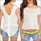 NEW SEXY high low KNIT TOPS for girls casual wear shirt SHORT SLEEVE TOP XS S M