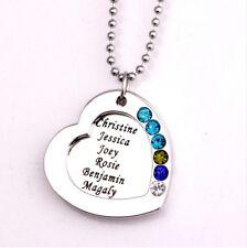 Halskette Herz mit Gravur bis zu vier Namen Familie personalisiert Wunschgravur
