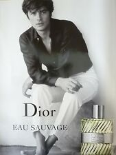 AFFICHE DIOR EAU SAUVAGE ALAIN DELON 4x6 ft Shelter Original Fashion Poster