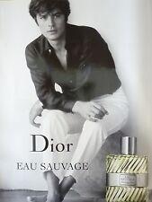 AFFICHE DIOR EAU SAUVAGE ALAIN DELON 4x6 ft Shelter Original Fashion Poster