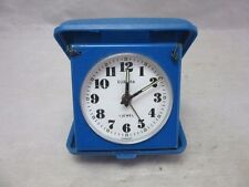 Europa travel, folding alarm clock. Blue enamel. Germany