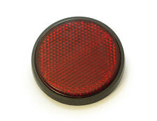 """☀ Chris Products 2.5"""" Round Motorcycle Reflector • Red • Adhesive Mount • RR2R ☀"""
