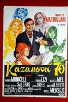 CASANOVA '70 ITALIAN MONICELLI MASTROIANNI 1965 RARE EXYU MOVIE POSTER