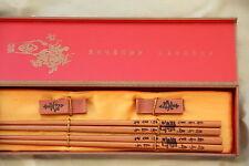 2 Baguettes Chinoises-Chopsticks-Kuai Zi-Junquillos-Stäbchen-bacchette-longévité