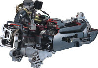 ZNEN Austausch Motor GY6, 10 Zoll Felge, 50cc (139QMB/QMA) China REX Roller NEU