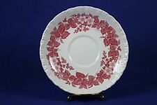 """Wedgewood - BRAMBLE Pink with Shell Edge - 5 7/8"""" Saucer"""