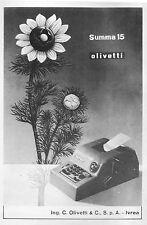 PUBBLICITA' 1952 OLIVETTI  SUMMA 15 DESIGN CALCOLATRICE NUMERI COMPTOMETER IVREA