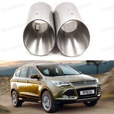 Car Exhaust Muffler Tip Tailpipe Trim Silver for Ford Kuga Escape 2013-2016 A042