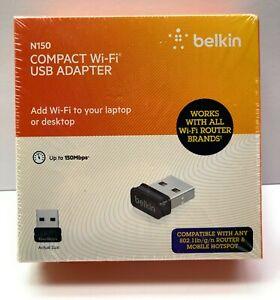 Belkin N150 Micro Compact Wireless USB Adapter (F7D1102) Ver. 1017 Brand NEW!