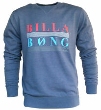 BILLABONG New Mens Fleece Crew Jumper Pullover Size (M) Medium CORPORAL Blue