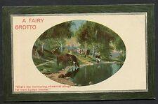C1910 Studio Art Card 'A Fairy Grotto' Country Scene