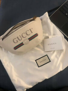 Authentic Gucci Print Belt Bag
