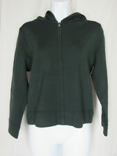 Marc Jacobs NWT Ivy Green Zip Front Cropped Cardigan Hoodie Knit Top Size Large