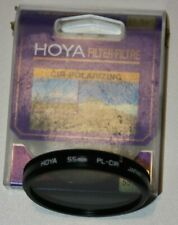55mm HOYA circular polarising filter c.pl  in case
