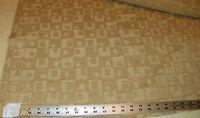 Beige Cream Geometric Print Jacquard Upholstery Fabric 1 Yard  R784